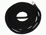 Black Poly Climbing Rope with Eyelet 15 feet