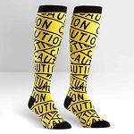 Women's Caution Tape Socks