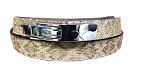 Omega Lever Bench Belt - Rattle Snake Skin
