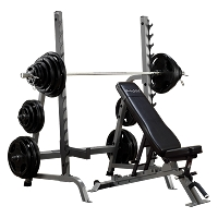 Body-Solid Commercial Bench / Squat Rack Combo Package SDIB370