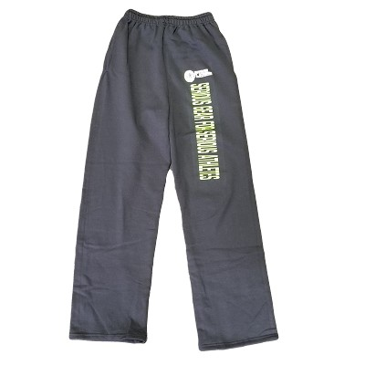 Black straight leg sweat pants