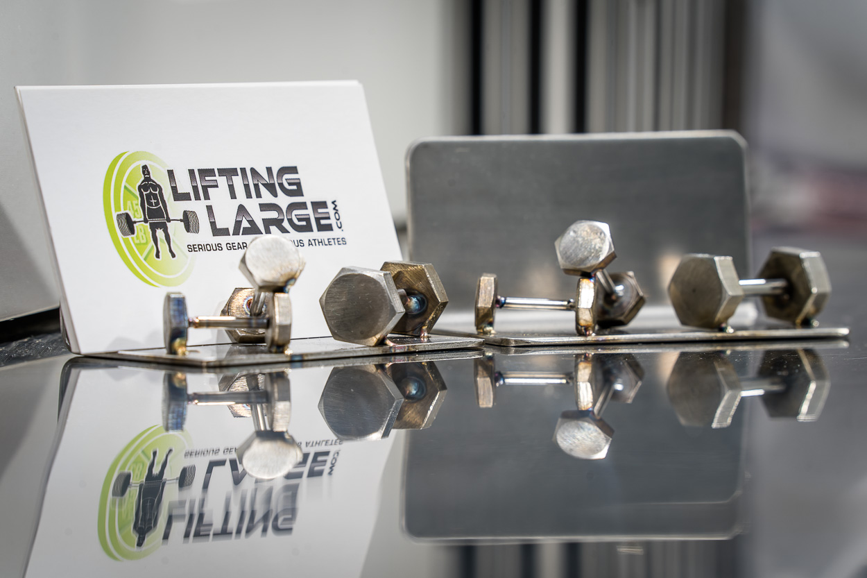 Dumbbell Business Card Holder