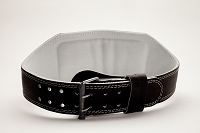 Black Padded 2x6 Prong Leather Belt