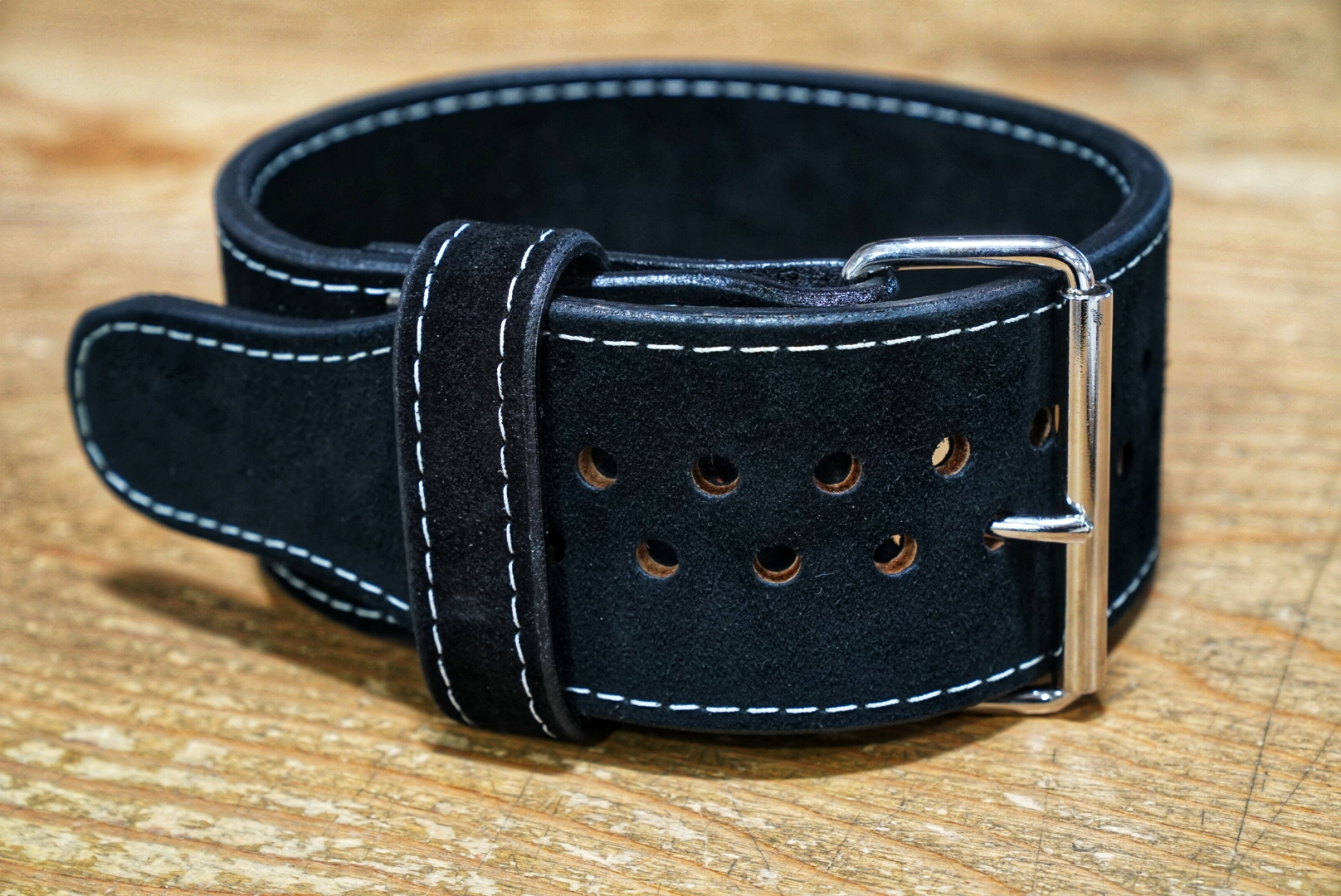Pioneer Cut Suede 1 prong 10mm Belt - Black