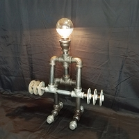 Steampunk Deadlifter Pipe Light