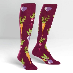 Turnip the Beet Knee High Deadlift Socks