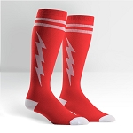 Unisex STRETCH-IT Knee High Super Hero Socks  Red & White