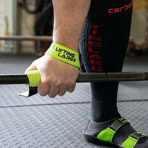 Double Ply Lifting Straps - Black/Green