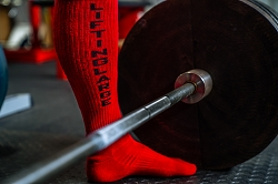 High Performance Deadlift Socks - Red