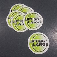 Lifting Large Sticker
