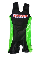 Triumph Singlet Black with Lime Sides