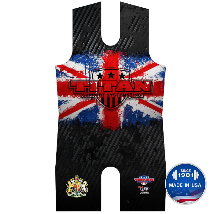 Titan UK United Kingdom Powerlifting Singlet