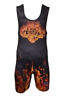 Titan Triumph Orange Inferno Singlet