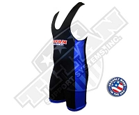 Titan Triumph Singlet - Black with Blue Sides