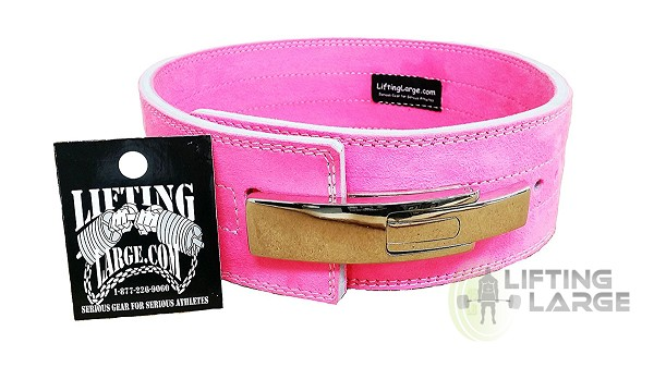 Economy Pink Lever Belt - Chrome Buckle