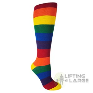 Moxy Rainbow Deadlift Socks